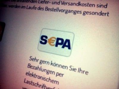 Jetzt per SEPA bezahlen