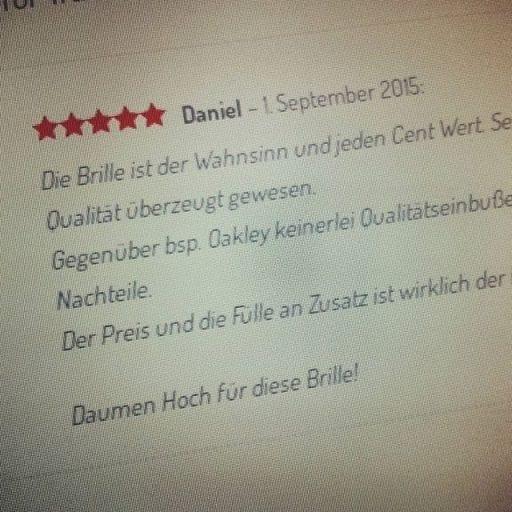 Danke an Daniel für eine tolle Bewertung. 2