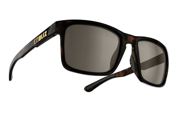 BLIZ LUNA demi brown/brown with silver mirror polarized 1