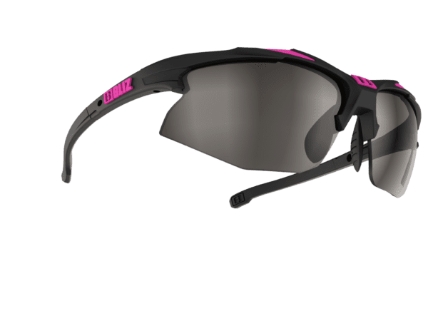 BLIZ VELO XT SMALLFACE rubber black/neon pink / smoke with silver mirror Filt.Cat.3 1