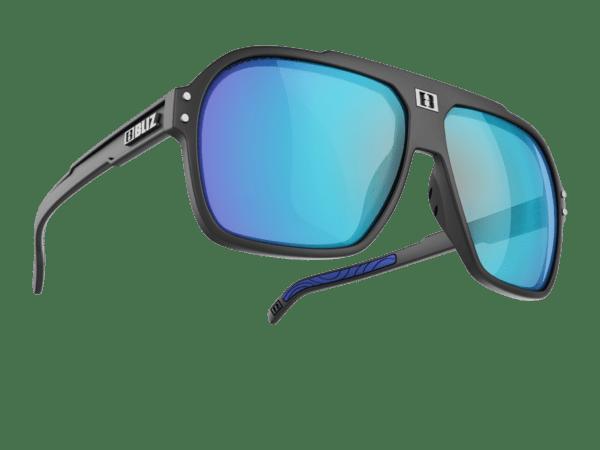 BLIZ TARGA Black / smoke with blue multi 1