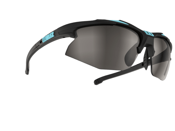 BLIZ VELO XT rubber black/turquoise blue / smoke with silver mirror Filt.Cat.3 1