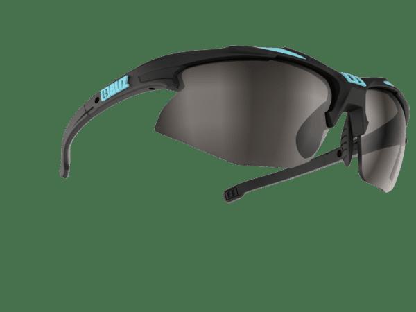 BLIZ VELO XT Bikebrille rubber black/turquoise blue / smoke with silver mirror Filt.Cat.3 1
