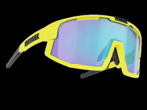 BLIZ VISION Matt neon yellow/Smoke w blue multi Filt.Cat.3 (für Brillenträger geeignet) 1