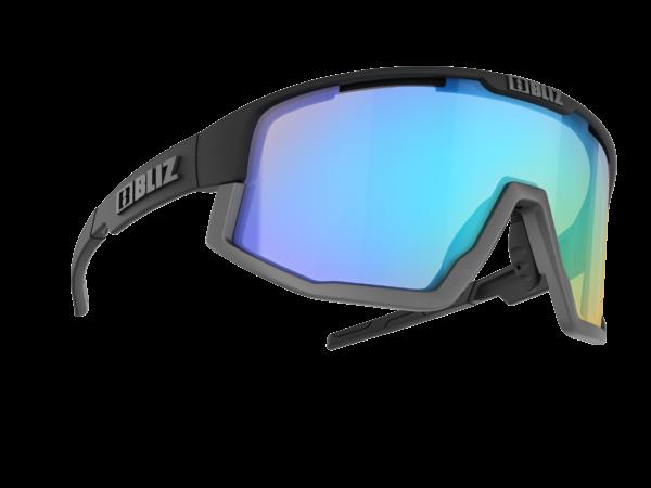 BLIZ FUSION Sportbrille Matt black/orange w blue multi Nordic Light (Filt.Cat.1) 1