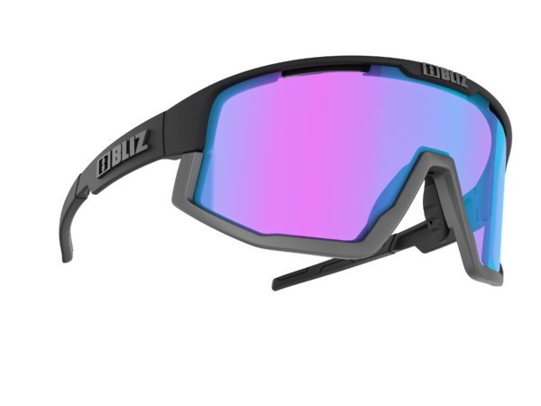 BLIZ FUSION Sportbrille Matt black/violet w blue multi Nordic Light (Filt.Cat.2) 1