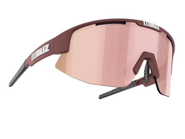 BLIZ Sportbrille MATRIX Small Matt Wine Red / brown w rose multi (Filt.Cat.3) 1