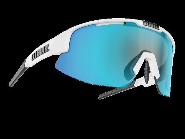 BLIZ Sportbrille MATRIX Small White /smoke w blue multi (Filt.Cat.3) 1