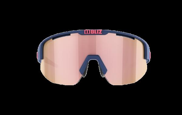BLIZ Sportbrille MATRIX Small Matt Dark Blue / brown w rose multi (Filt.Cat.3) 2