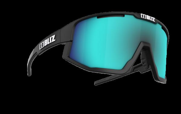 BLIZ FUSION Matt Black/smoke w blue multi (Filt.Cat.3) 3