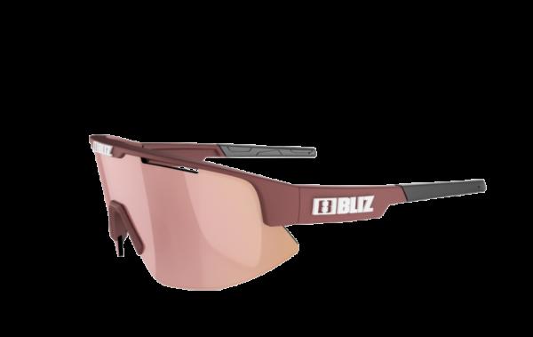 BLIZ Sportbrille MATRIX Small Burgundy / brown w rose multi (Filt.Cat.3) 2
